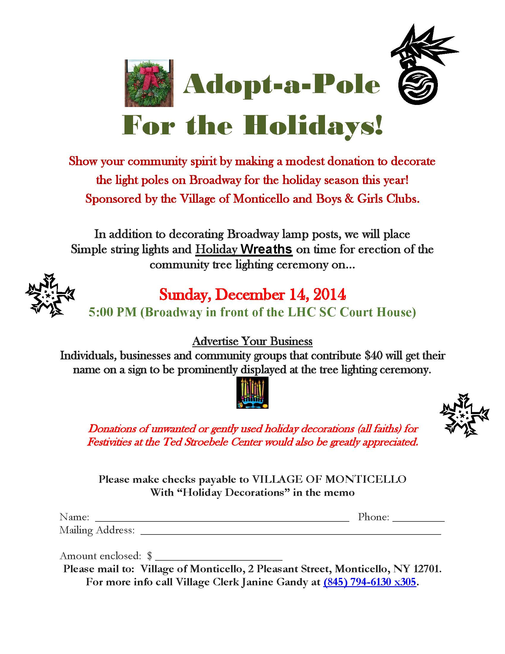 Monticello Santa Express flyer
